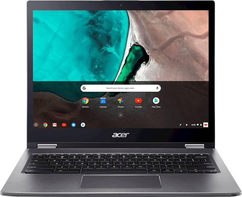 """Front Zoom. Acer - Spin 13 2-in-1 13.5"""" Touch-Screen Chromebook - Intel Core i5 - 8GB Memory - 64GB eMMC Flash Memory - Steel Gray."""