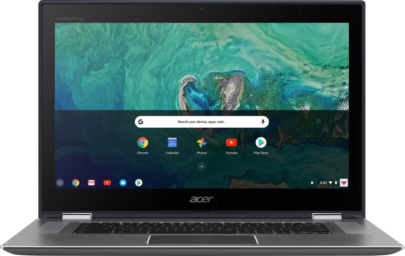 """Front Zoom. Acer - Spin 15 2-in-1 15.6"""" Touch-Screen Chromebook - Intel Pentium - 4GB Memory - 64GB Solid State Drive - Sparkly Silver."""