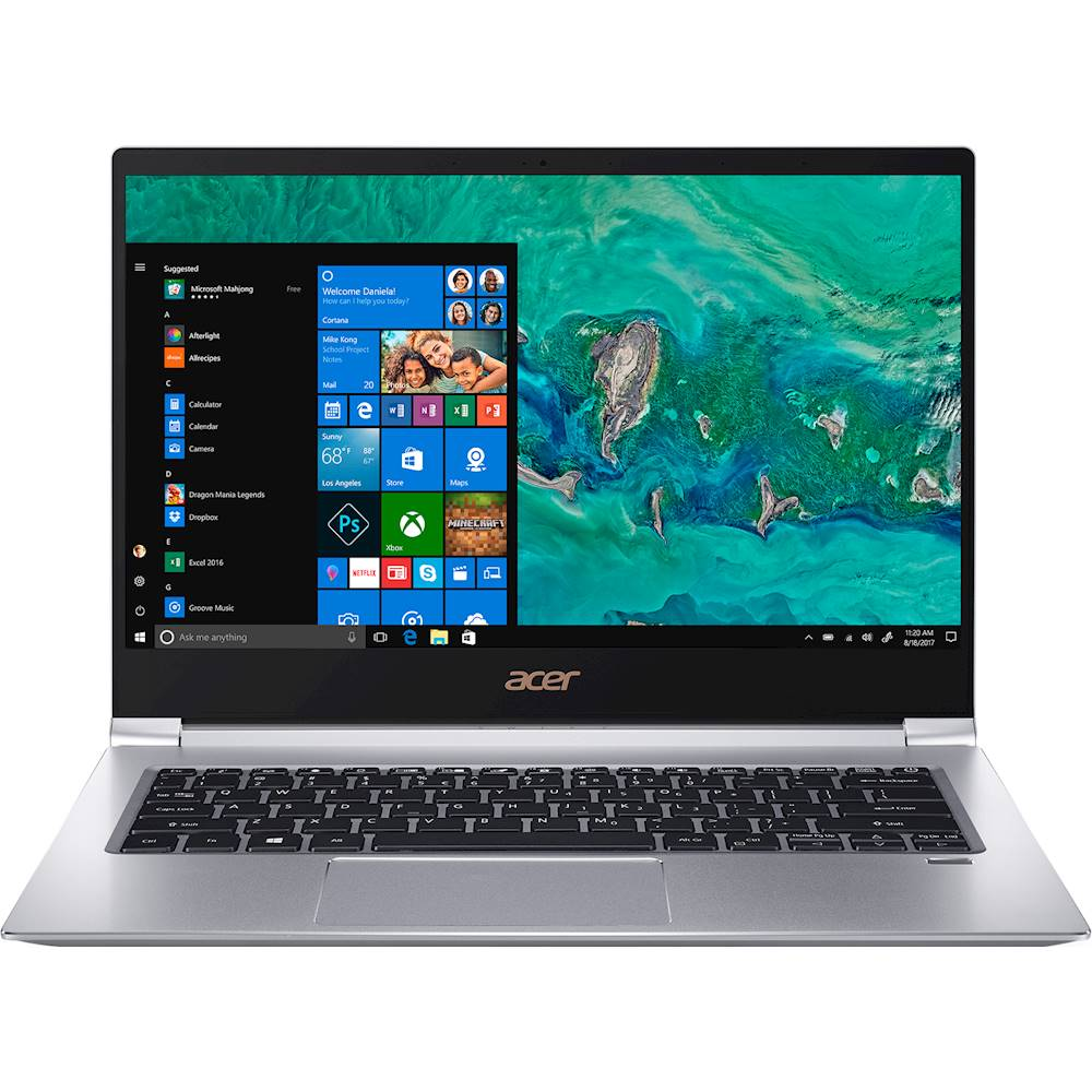 """Front Zoom. Acer - Swift 3 14"""" Laptop - Intel Core i5 - 8GB Memory - 256GB Solid State Drive - Silver."""
