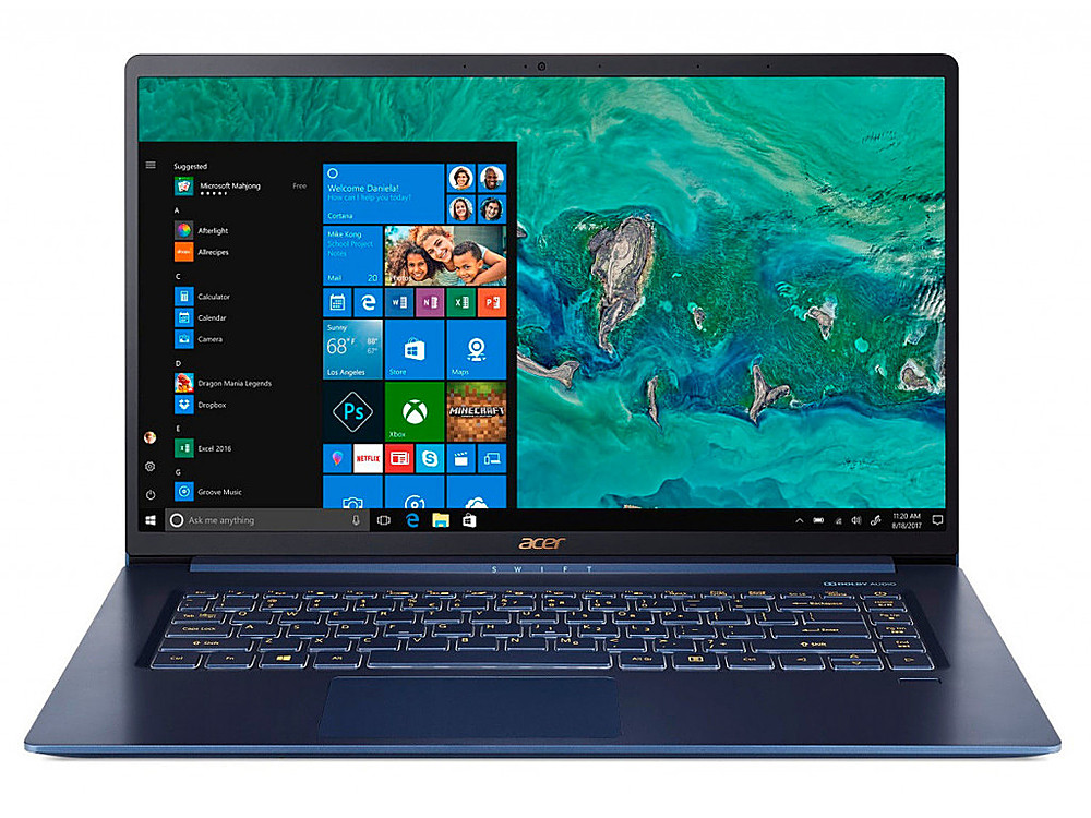 "Front Zoom. Acer - Swift 5 15.6"" Refurbished Laptop - Intel Core i5 8265U - 8GB Memory - 256GB Solid State Drive - Blue."