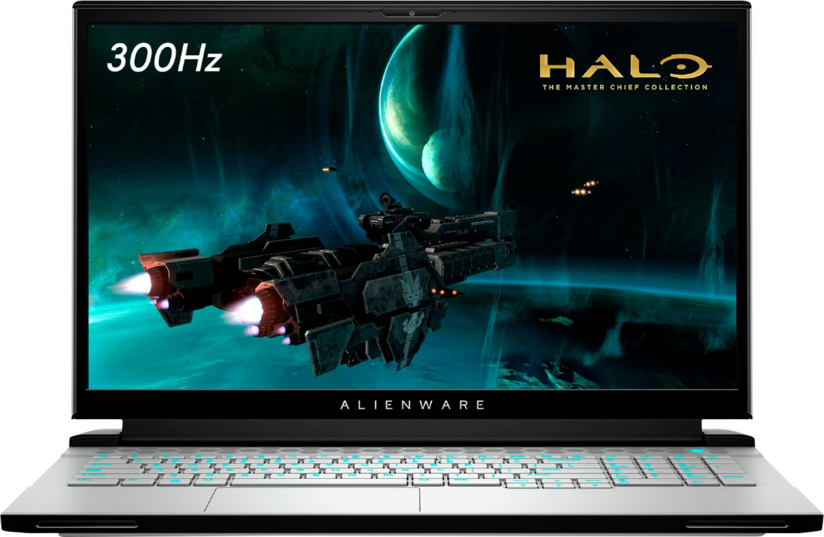 """Front Zoom. Alienware - m17 R3 - 17.3"""" FHD Gaming Notebook - 300Hz - Intel Core i7 - 16GB Memory - NVIDIA GeForce RTX 2070 SUPER - 1TB SSD - Lunar Light."""