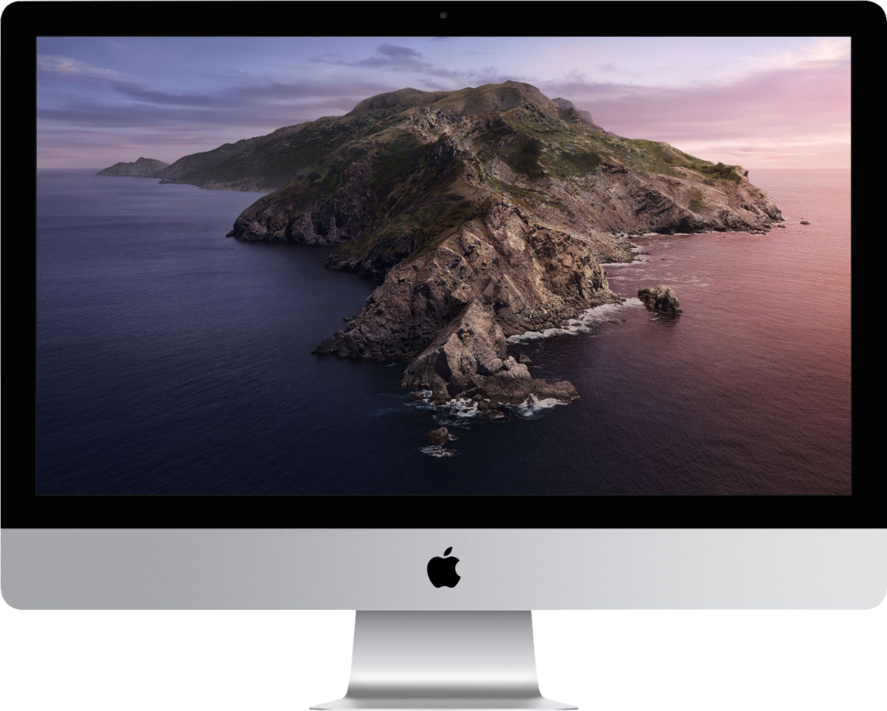 "Front Zoom. Apple - 27"" iMac® with Retina 5k display - Intel Core i5 (3.1GHz) - 8GB Memory - 1TB Fusion Drive - Silver."