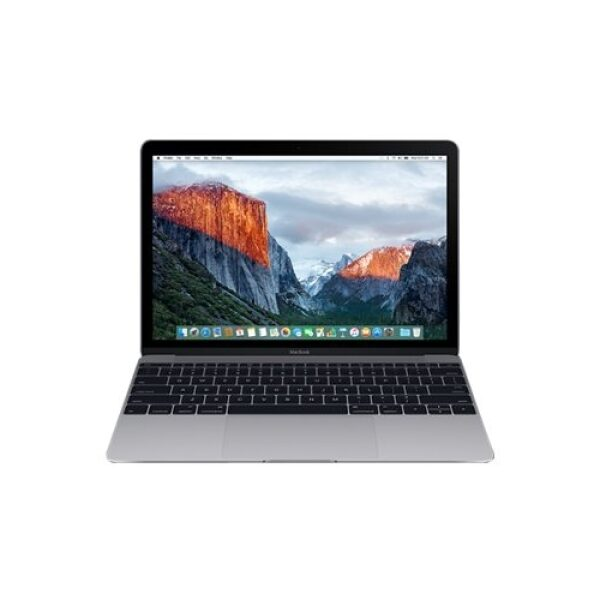 """Front Standard. Apple - MacBook 12"""" Pre-Owned Laptop - Intel Core m3 - 8GB Memory - 256GB Solid State Drive - Space Gray."""