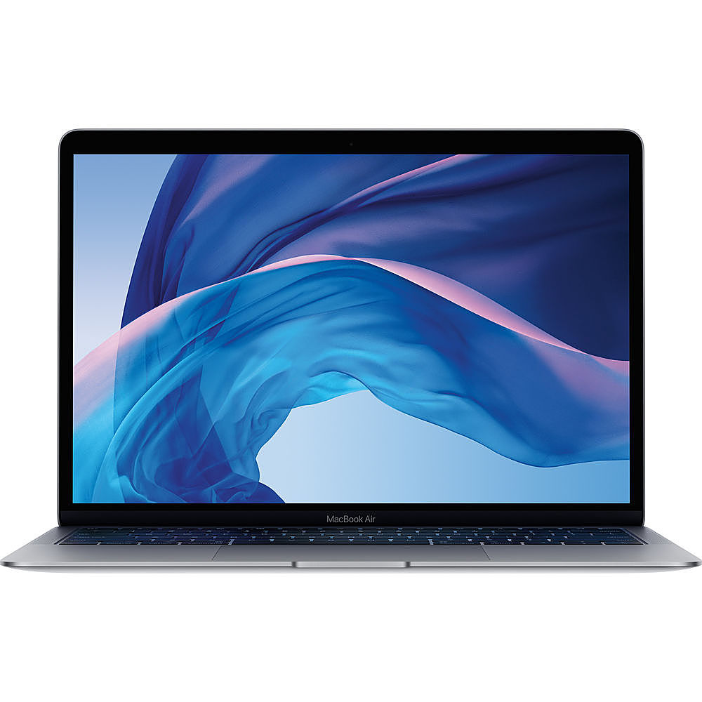 """Front Zoom. Apple - MacBook Air - 13.3"""" Pre-Owned - Intel Core i5 - 8GB Memory - 128GB Solid State Drive - Space Gray."""