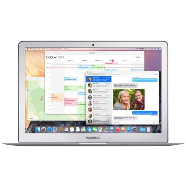 """Front Zoom. Apple - MacBook Air 13.3"""" Pre-Owned Laptop - Intel Core i5 - 4GB Memory - 128GB Flash Storage - Silver."""