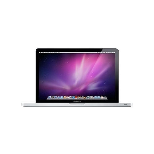 """Front Standard. Apple - MacBook Pro 13.3"""" Laptop - Intel Core 2 Duo - 4GB Memory - 250GB Hard Drive - Pre-Owned - Silver."""