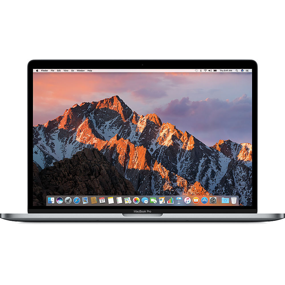 """Front Zoom. Apple - MacBook Pro 15"""" Pre-Owned - Core i7 -  16 GB Memory - 512GB Solid State Drive - Space Gray."""