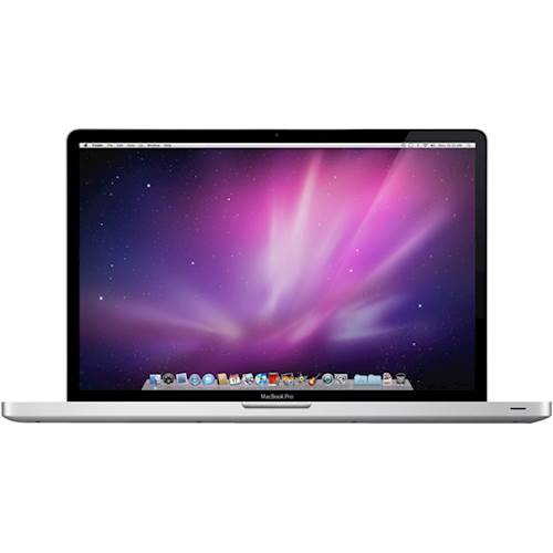 """Front Standard. Apple - MacBook Pro 15.4"""" Laptop - Intel Core i7 - 4GB Memory - 128GB Hard Drive - Pre-Owned - Silver."""