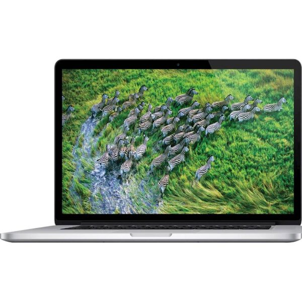 "Front Zoom. Apple - MacBook Pro 15.4"" Pre-Owned Laptop - Intel Core i7 - 8GB Memory - 256GB Solid State Drive - Silver."