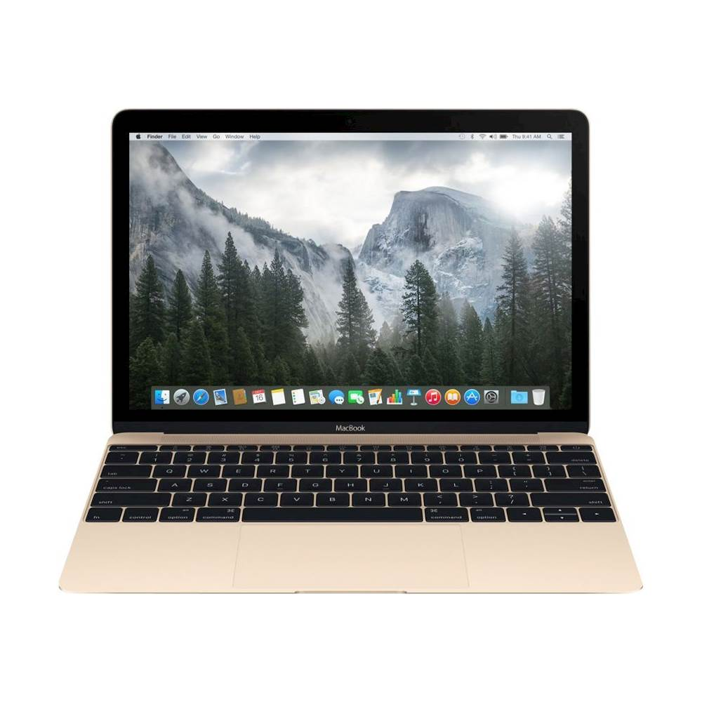 "Front Zoom. Apple - Macbook® 12"" Laptop - Intel Core M - 8GB Memory - 256GB Solid State Drive - Pre-Owned - Gold."