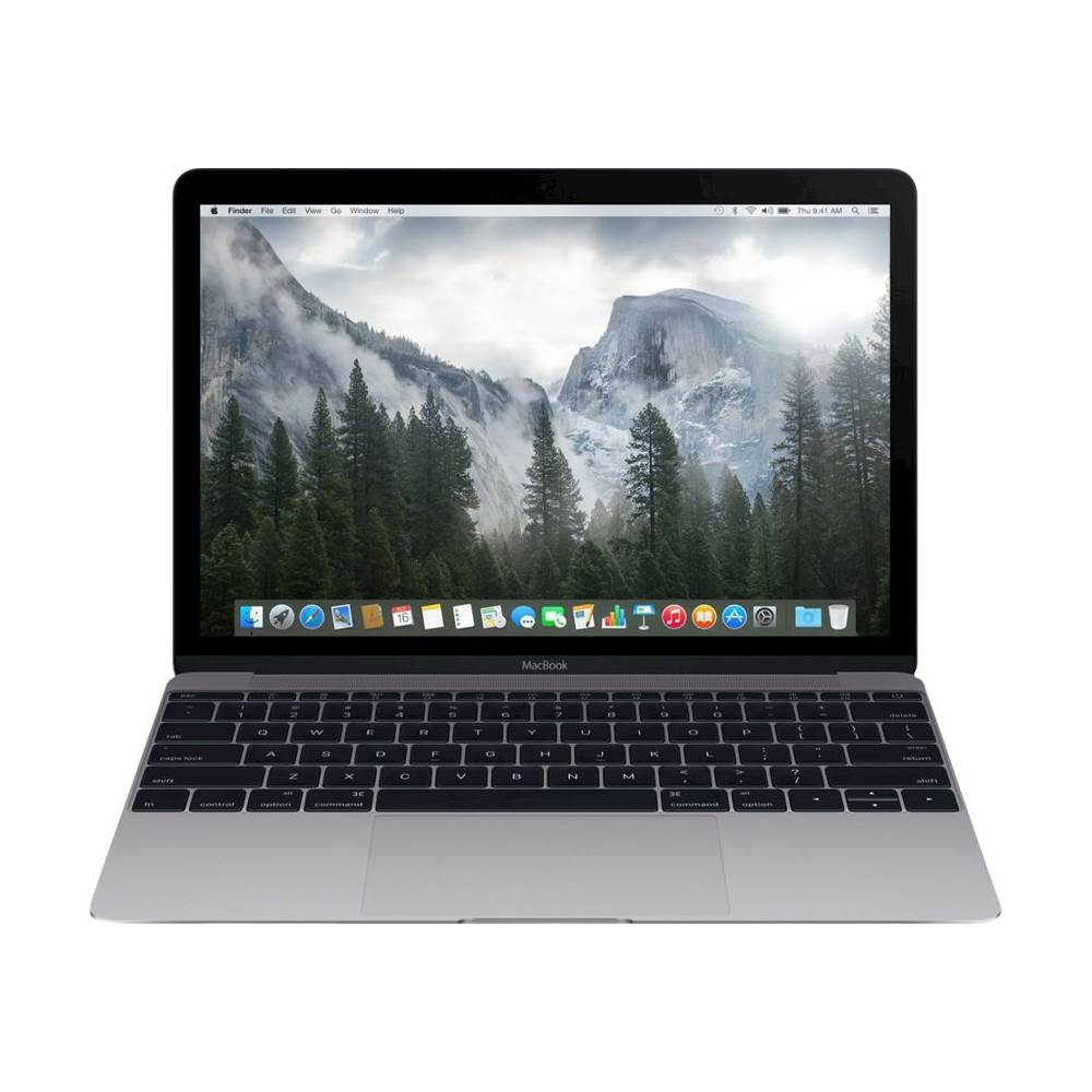 """Front Zoom. Apple - Macbook® 12"""" Pre-owned Laptop - Intel Core M - 8GB Memory - 256GB Solid State Drive - Space Gray."""