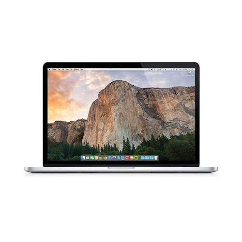"""Front Standard. Apple - Macbook Pro 13.3"""" Pre-owned Laptop - Intel Core i5 -  8GB Memory - 128GB Solid State Drive - Silver."""