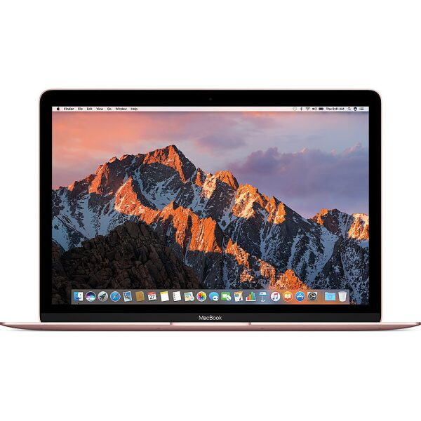 """Front Zoom. Apple - Pre-Owned Macbook - 12"""" - Intel Core M5 - 8GB Memory - 256GB Flash Storage - Rose Gold."""