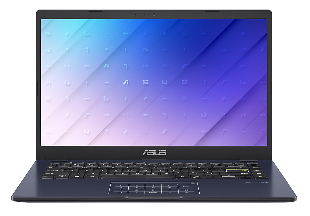 "Front Zoom. Asus L410 L410MADB02 14"" Notebook -HD - 1920 x 1080 - Intel Celeron N4020 1.10 GHz - 4 GB RAM - 64 GB Flash Memory."