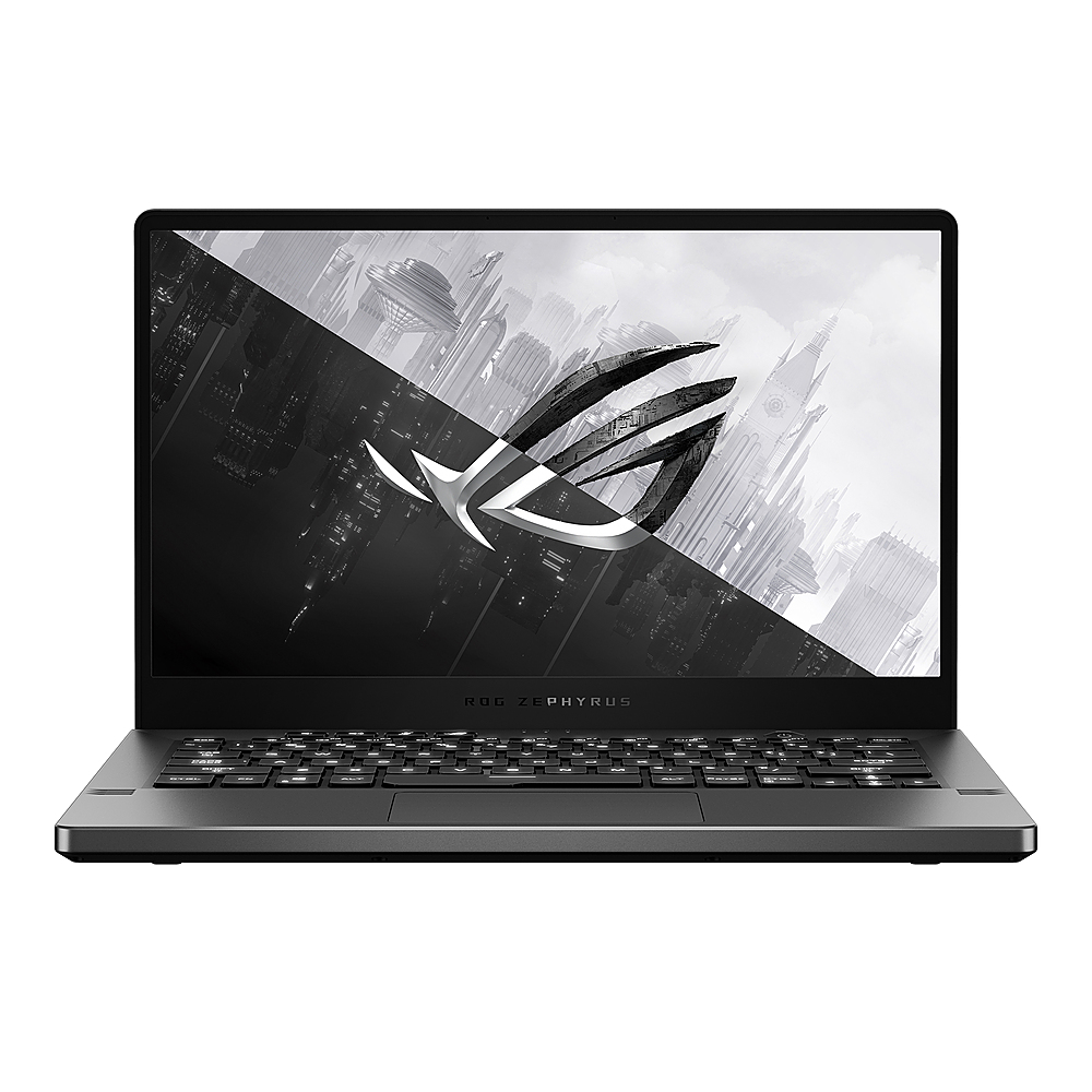 "Front Zoom. Asus - ROG Zephyrus G14 14"" QHD IPS Gaming Laptop -  AMD Ryzen 9 4900HS -  16GB - GeForce RTX 2060 6GB  - 1TB - Eclipse Gray."