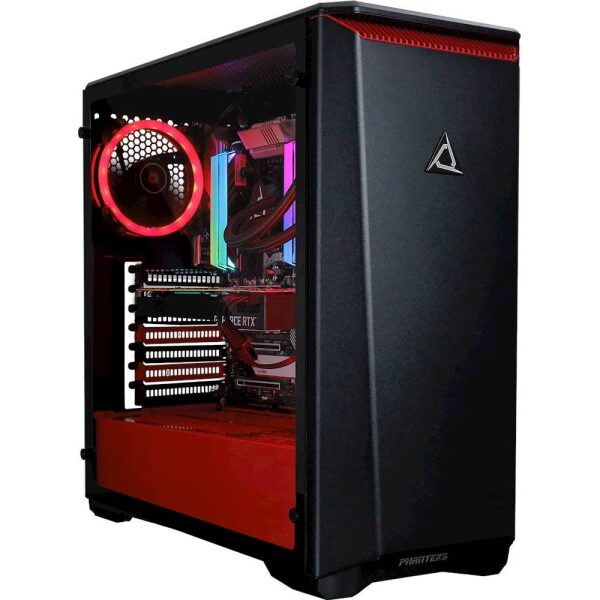 Angle Zoom. CybertronPC - CLX SET Gaming Desktop - Intel Core i9-10900X - 32GB Memory - NVIDIA GeForce RTX 2080 SUPER - 3TB HDD + 960GB SSD - Black/Red.