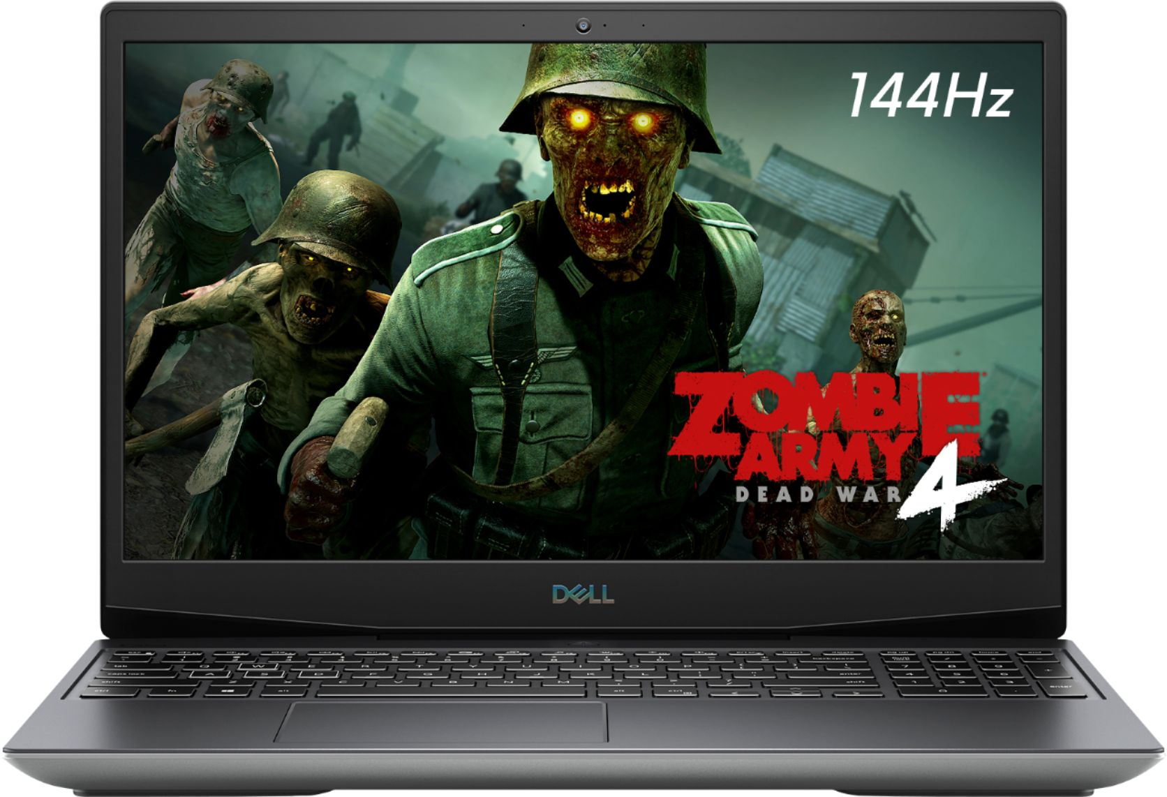 """Front Zoom. Dell - G5 15.6"""" Gaming Laptop - 144Hz - AMD Ryzen 7 - 8GB Memory - AMD Radeon RX 5600M - 512GB Solid State Drive - grey."""