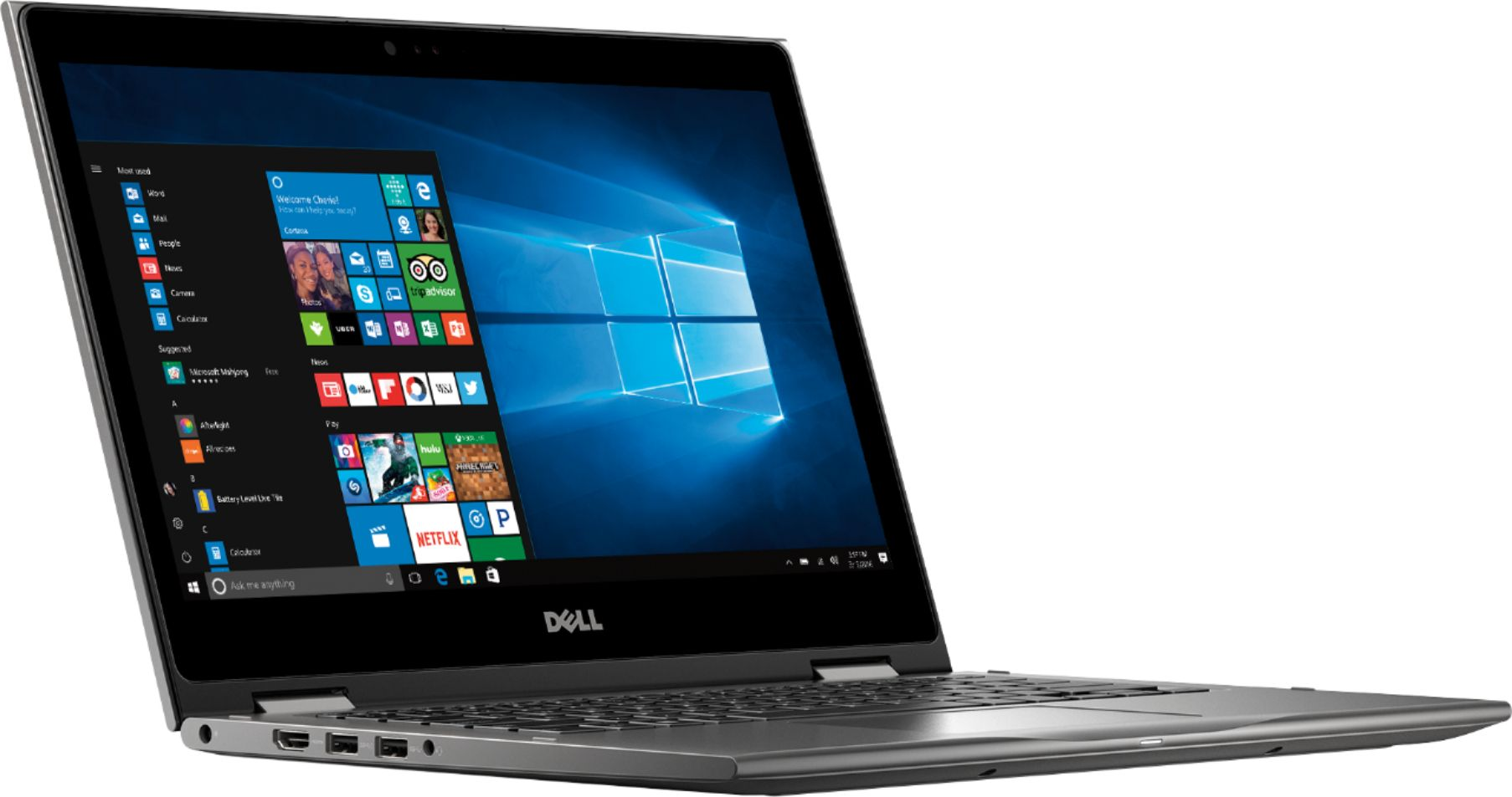 """Angle Zoom. Dell - Geek Squad Certified Refurbished Inspiron 2-in-1 13.3"""" Touch-Screen Laptop - AMD Ryzen 5 - 8GB Memory - 256GB SSD - Era Gray."""