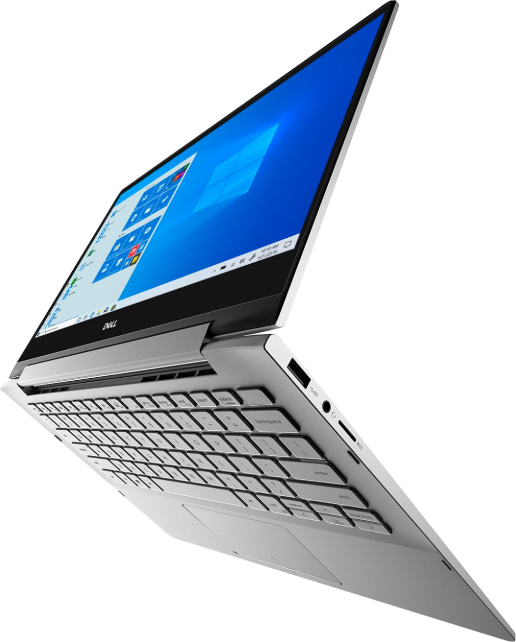 """Front Zoom. Dell - Inspiron 13.3"""" 7000 2-in-1 Touch-Screen Laptop - Intel Core i5 - 8GB Memory - 512GB SSD + 32GB Optane - Silver."""