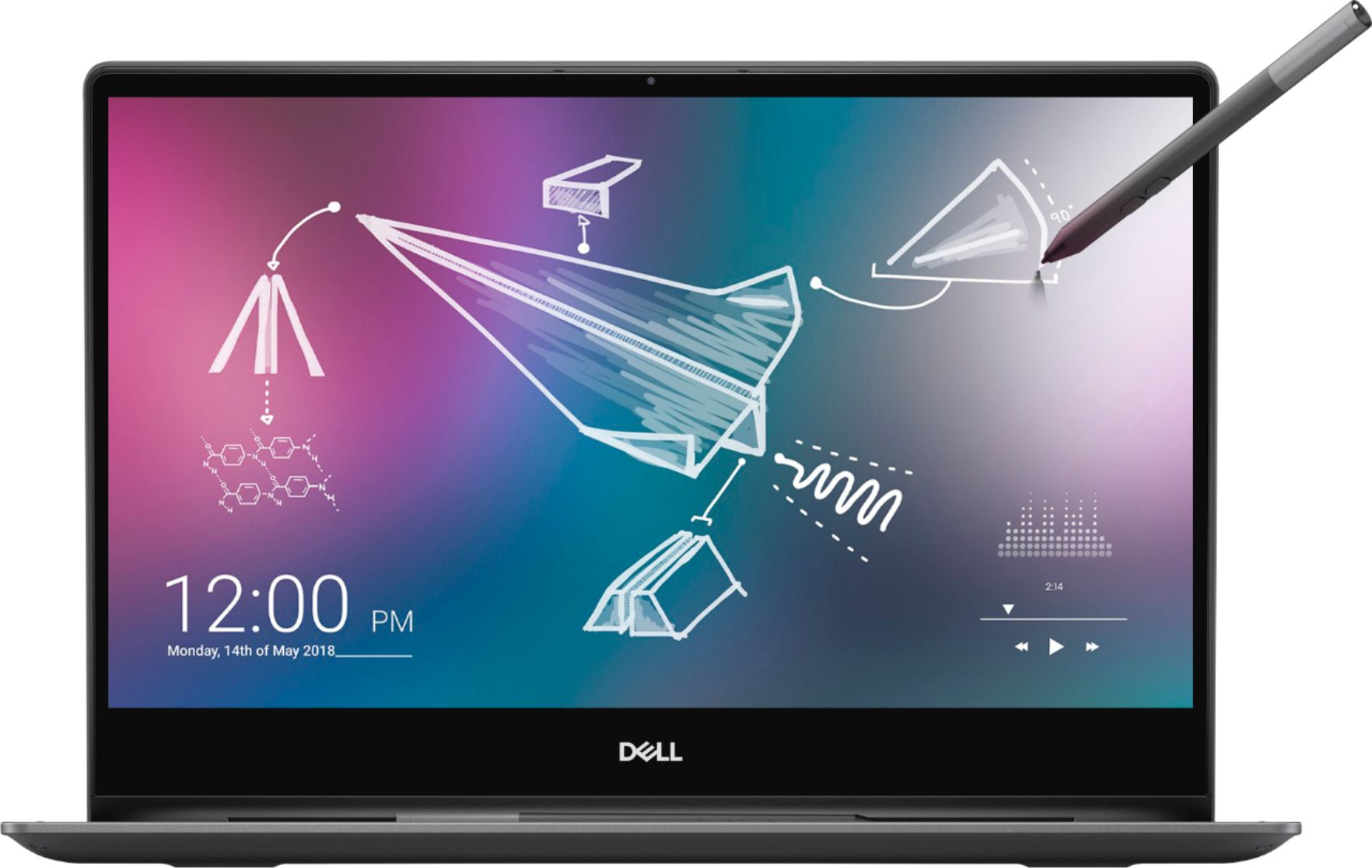 "Front Zoom. Dell - Inspiron 13.3"" Geek Squad Certified Refurbished 4K Ultra HD Touch-Screen Laptop Intel Core i7 16GB Memory 512GB SSD - Black."