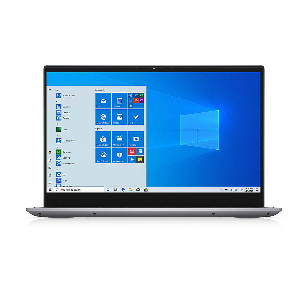 "Front Zoom. Dell - Inspiron 14.0"" FHD 2in1 Laptop - i5-1135G7 - 8GB - Intel Iris Xe Graphics - 256 GB SSD - Titan Grey."