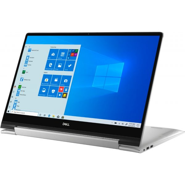 """Dell - Inspiron 17.3"""" 7000 2-in-1 Touch-Screen Laptop - Intel Core i7 - 16GB Memory - GeForce MX250 - 512GB SSD + 32GB Optane - Silver"""
