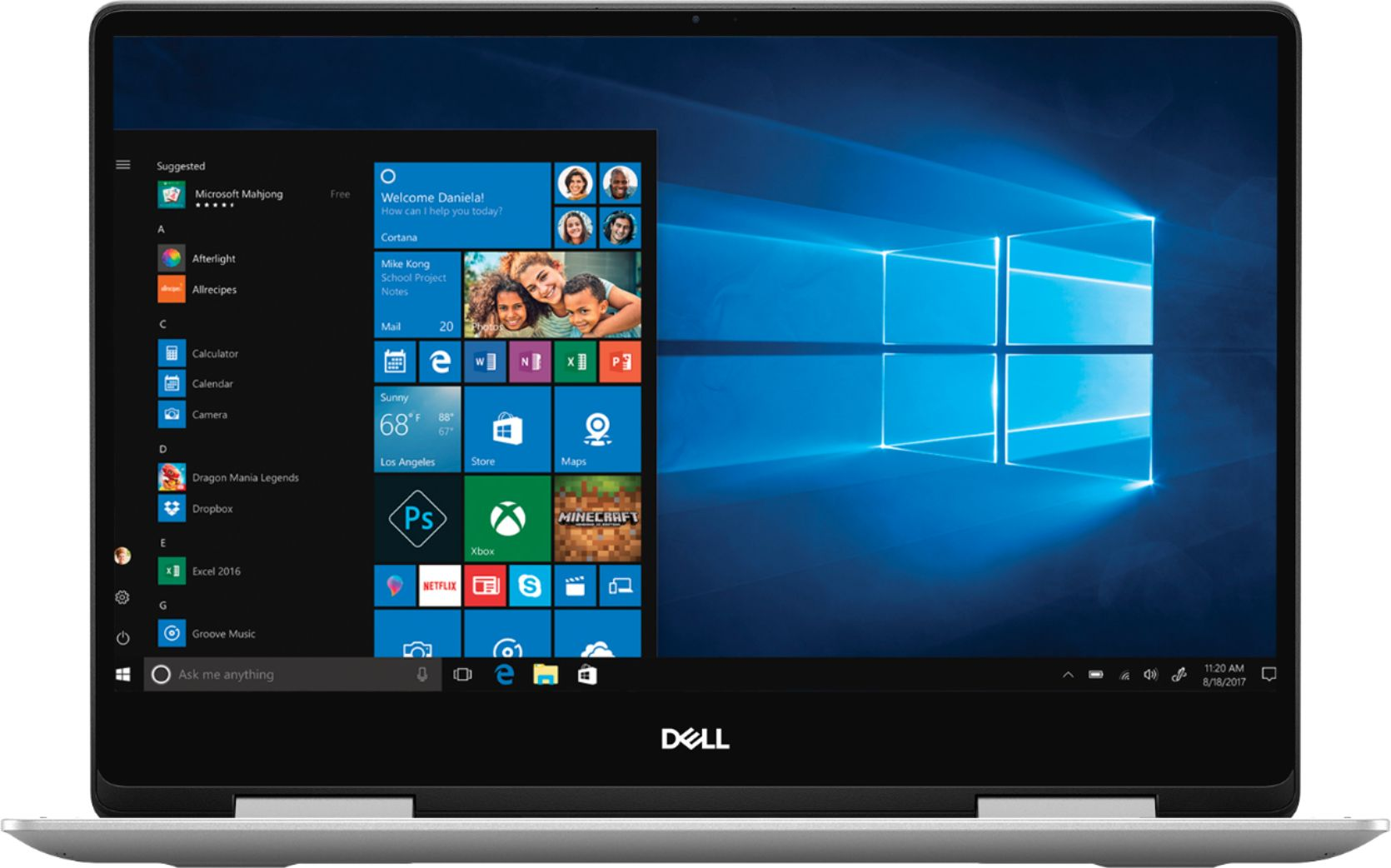 "Front Zoom. Dell - Inspiron 2-in-1 13.3"" Geek Squad Certified Refurbished Touch-Screen Laptop - Intel Core i5 - 8GB Memory - 256GB SSD - Silver."