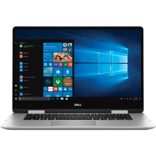 """Dell - Inspiron 2-in-1 15.6"""" Geek Squad Certified Refurbished Touch-Screen Laptop - Intel Core i5 - 8GB Memory - 256GB SSD - Silver"""