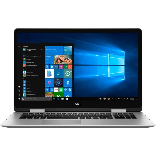 """Dell - Inspiron 2-in-1 17.3"""" Geek Squad Certified Refurbished Touch-Screen Laptop - Intel Core i7 - 16GB Memory - 512GB SSD - Silver"""