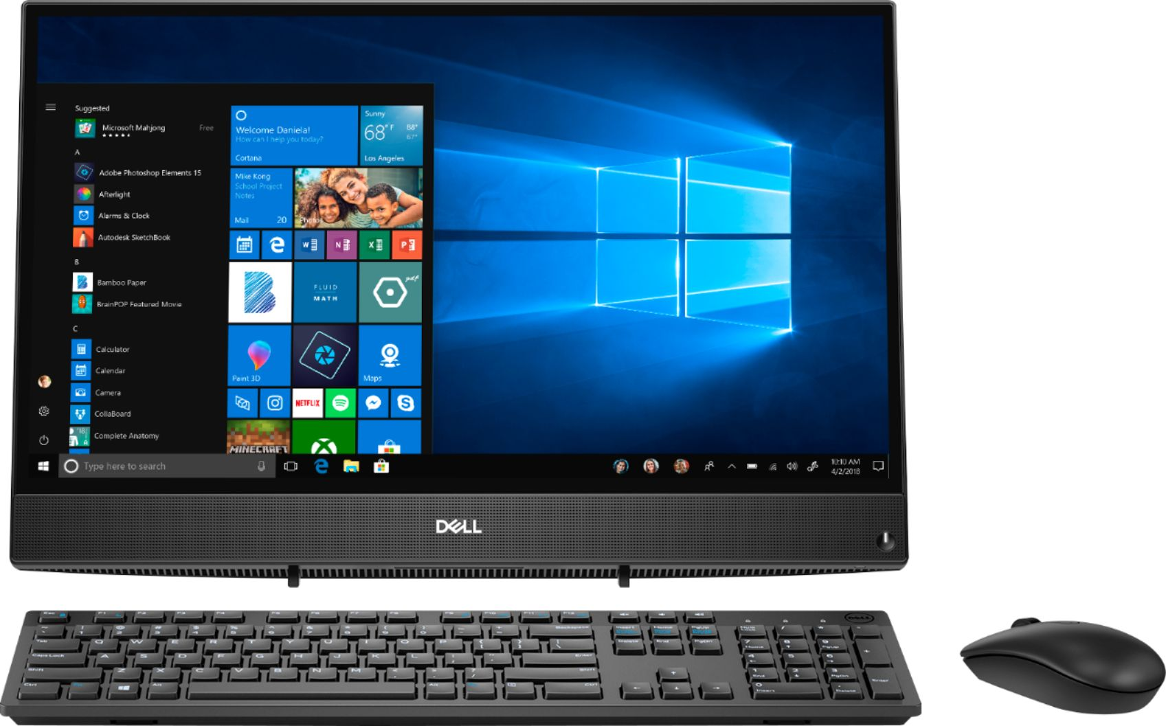 """Front Zoom. Dell - Inspiron 21.5"""" Touch-Screen All-In-One - AMD A6-Series - 4GB Memory - 1TB Hard Drive - Black."""