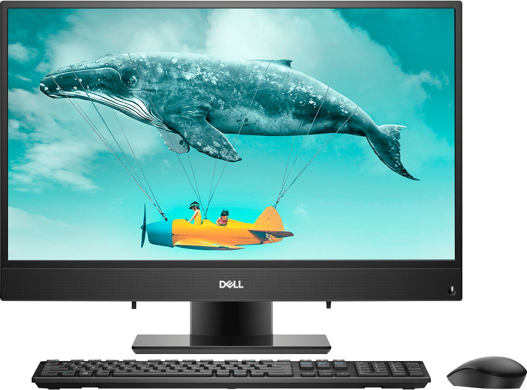 "Front Zoom. Dell - Inspiron 23.8"" Touch-Screen All-In-One - AMD A9-Series - 8GB Memory - 256GB Solid State Drive - Black."