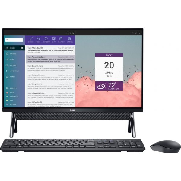 "Front Zoom. Dell - Inspiron 24"" Touch-Screen All-In-One - Intel Core i3 - 8GB Memory - 256GB SSD - Black."