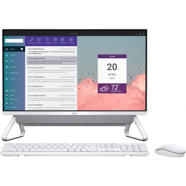 """Front Zoom. Dell - Inspiron 24"""" Touch-Screen All-In-One - Intel Core i7 - 16GB Memory - 512GB SSD - Silver."""