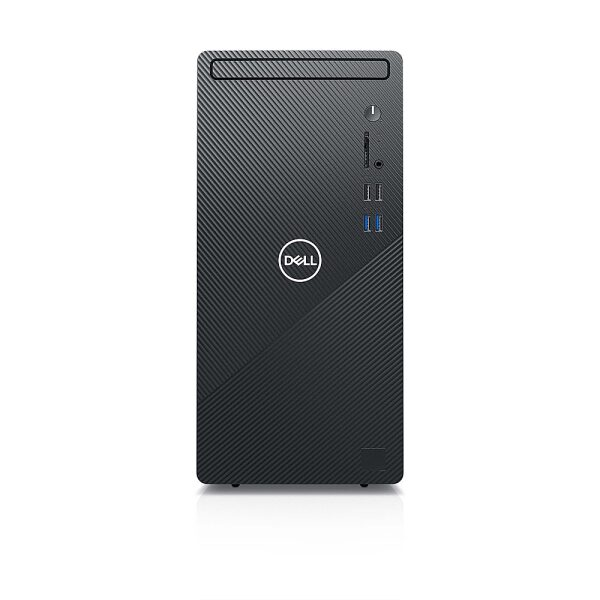 Front Zoom. Dell - Inspiron 3000 Desktop - Intel Core i3-10100 - 8GB RAM - 1TB HDD - DVD drive - Ethernet+WiFi+Bluetooth - keyboard/mouse - Black.