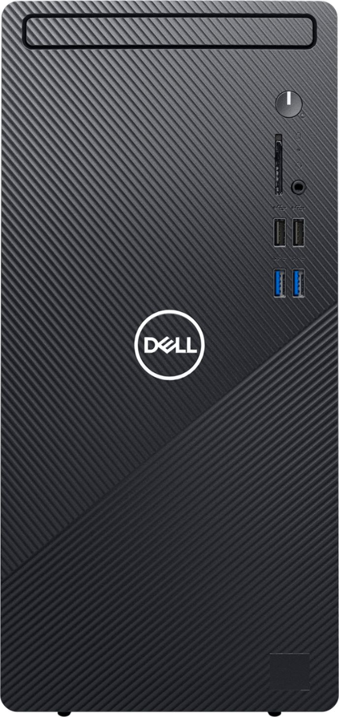 Front Zoom. Dell - Inspiron 3880 Desktop - Intel Core i7-10700 - 12GB Memory - 512GB SSD - Ethernet - WiFI - Bluetooth - keyboard + mouse - Black.