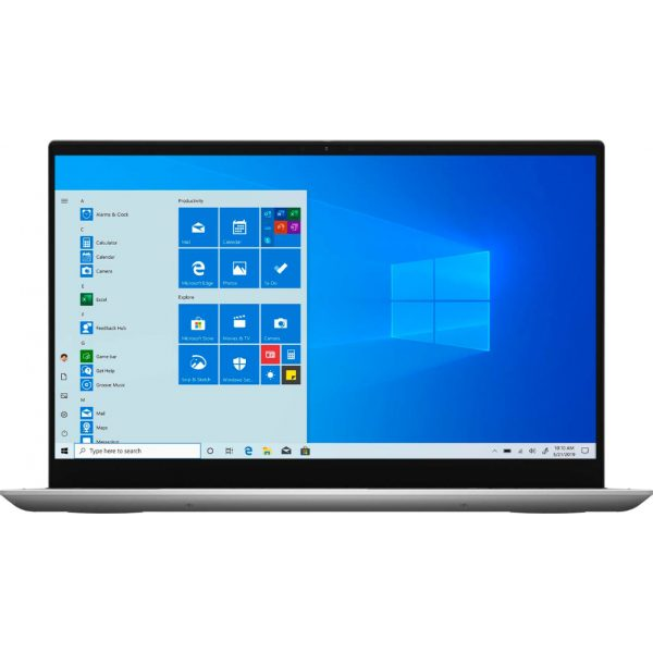 """Front Zoom. Dell - Inspiron 7000 2-in-1 - 15.6"""" FHD Touch Laptop - 11th Gen Intel Core i7 - 16GB RAM - 512GB SSD + 32GB Optane - Silver."""