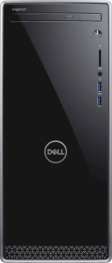 Front Zoom. Dell - Inspiron Desktop - Intel Core i3 - 8GB Memory - 1TB HDD - Black With Silver Trim.