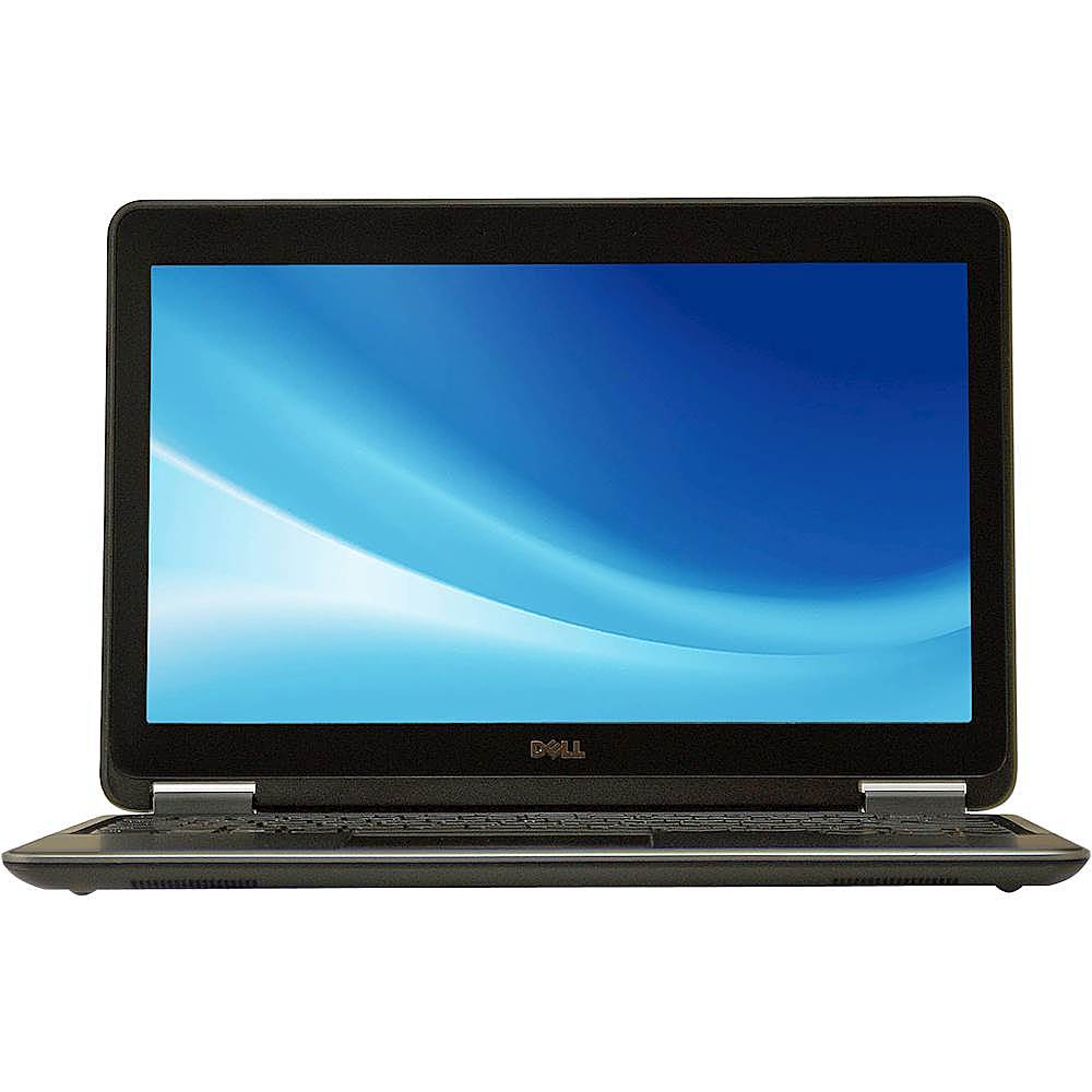 """Front Zoom. Dell - Latitude 12.5"""" Laptop - Intel Core i5 - 8GB Memory - 256GB Solid State Drive - Pre-Owned - Black."""