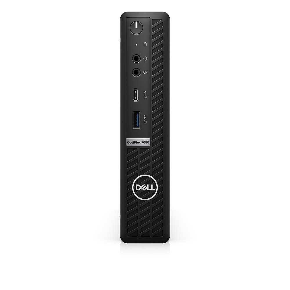 Front Zoom. Dell - OptiPlex 7080 Micro PC - i5 -10500T - 8GB - 256GB SSD  - Keyboard and Mouse.