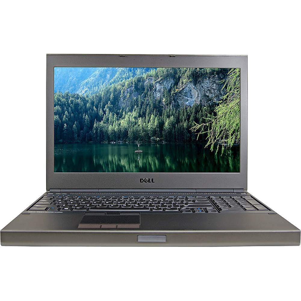 """Front Zoom. Dell - Precision 15.6"""" Laptop - Intel Core i7 - 16GB Memory - 250GB Solid State Drive - Pre-Owned - Black."""