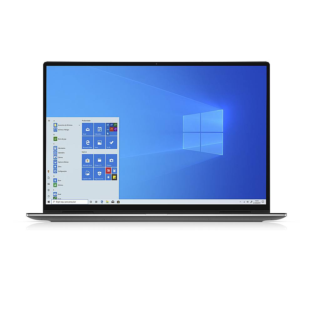 """Front Zoom. Dell - XPS 13"""" 2-in-1 Touch FHD+ Laptop - Intel Evo Platform Core i7- 8GB RAM- 256GB SSD - Platinum Silver - Platinum Silver with Black Palmrest."""