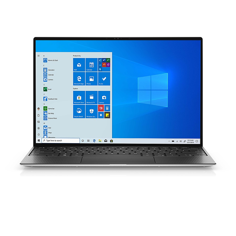 """Front Zoom. Dell - XPS 13"""" Touch-Screen Laptop -Intel Evo Platform- Intel Core i7 - 8GB Memory - 512GB SSD - Platinum Silver - Platinum Silver."""