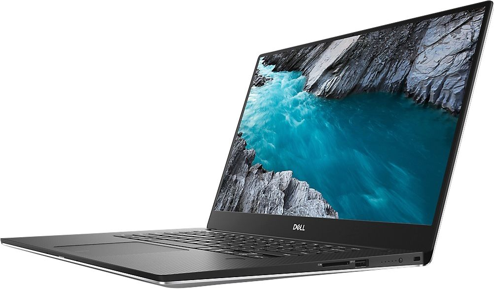 """Front Zoom. Dell - XPS 15 15.6"""" Laptop - Intel Core i7 - 16 GB Memory - NVIDIA GeForce GTX 1650 - 512 GB SSD - Silver."""