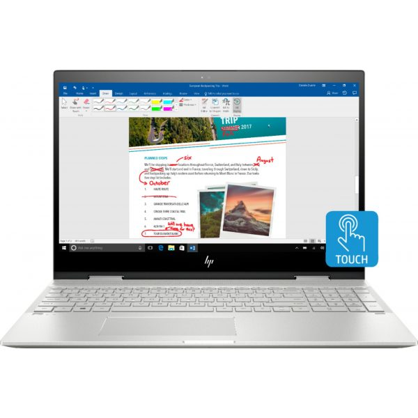 """Geek Squad Certified Refurbished ENVY x360 2-in-1 15.6"""" Touch-Screen Laptop - Intel Core i7 - 12GB Memory - 256GB SSD - HP Finish In Natural Silver"""
