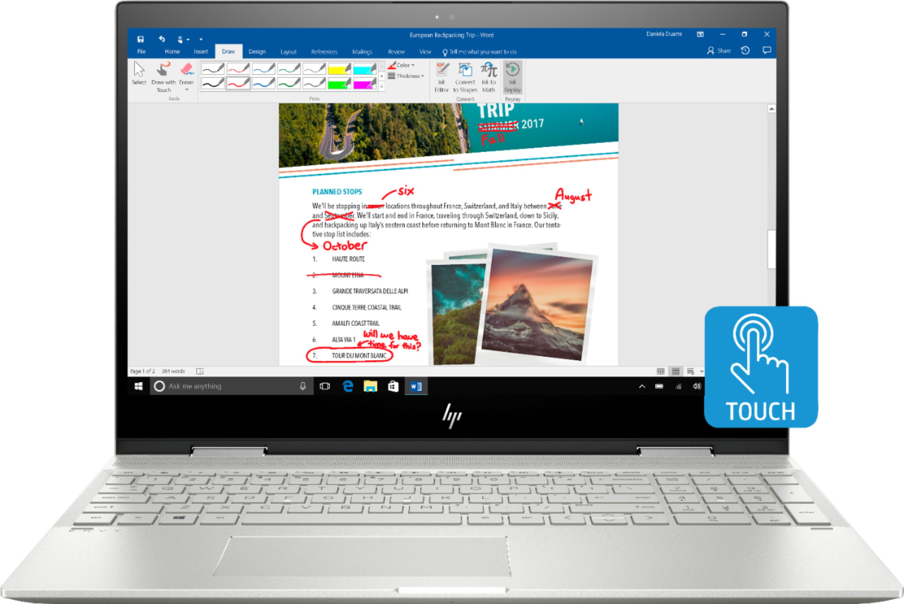 """Front Zoom. Geek Squad Certified Refurbished ENVY x360 2-in-1 15.6"""" Touch-Screen Laptop - Intel Core i7 - 12GB Memory - 256GB SSD - HP Finish In Natural Silver."""