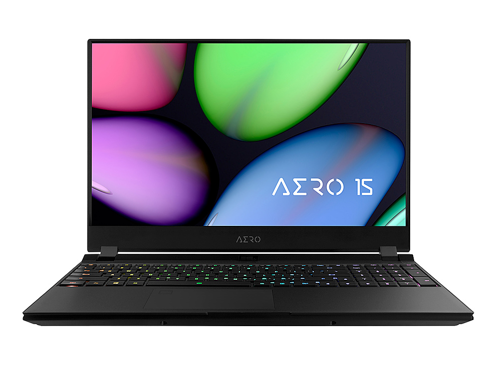 """Front Zoom. Gigabyte -  15.6"""" FHD Gaming Laptop - Intel Core i7- 16GB - NVIDIA GeForce RTX 2060 - 512GB SSD - Black."""