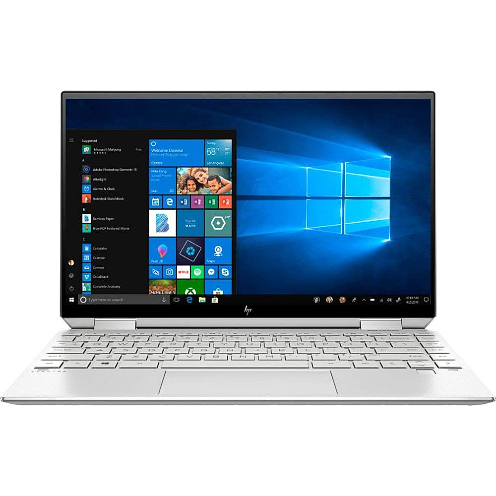 """Front Zoom. HP - 13.3""""  Factory Recertified Spectre - Intel i7-1065 - 8GB Memory - 512GB SSD + 32GB Optane  Hard Drive - Silver."""