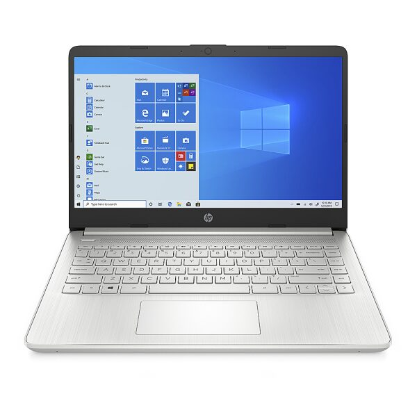 "Front Zoom. HP - 14"" Laptop - 4GB Memory - 64GB eMMC Hard Drive - Natural Silver."