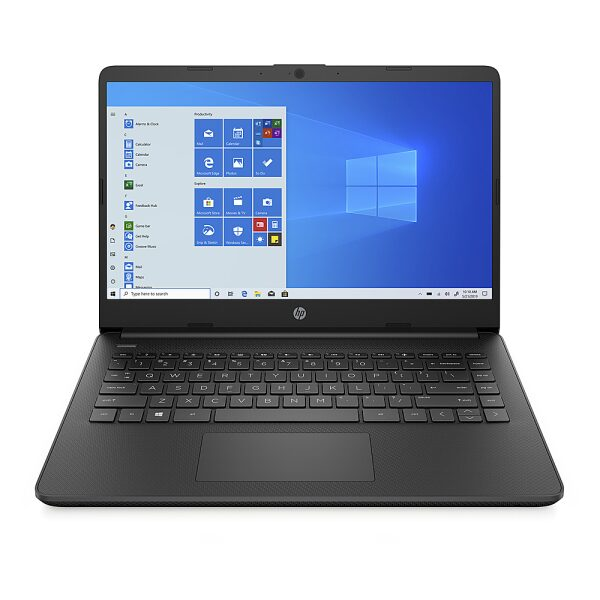 "Front Zoom. HP - 14"" Laptop - AMD 3020e - 4GB Memory - 64 GB eMMC Hard Drive - Jet Black."