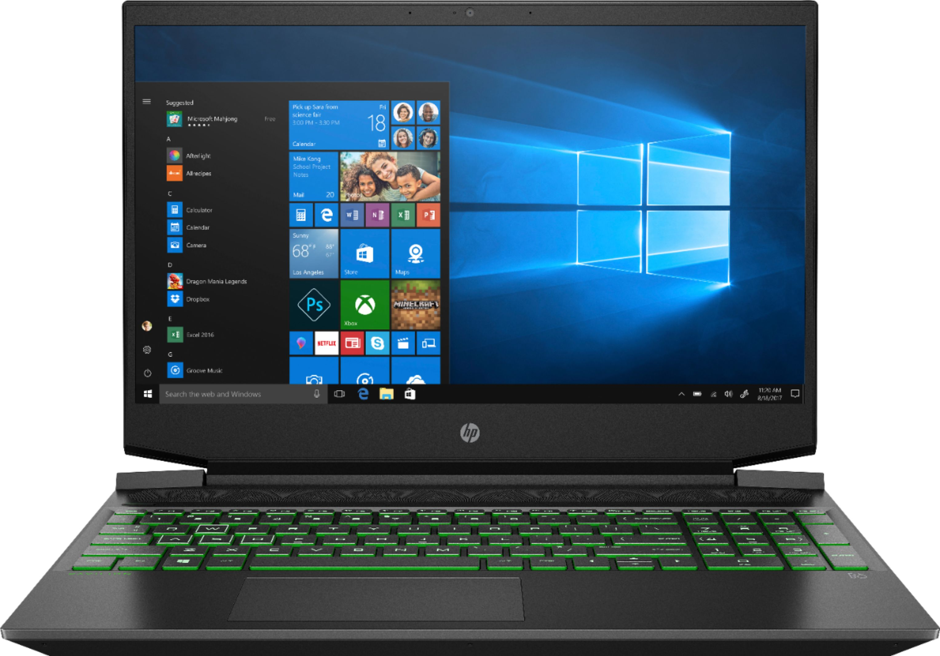 """Front Zoom. HP - 15.6"""" Gaming Laptop - AMD Ryzen 5 - 8GB Memory - NVIDIA GeForce GTX 1050 - 256GB Solid State Drive - Shadow Black."""